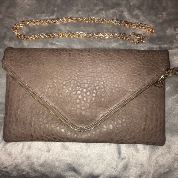 d1d488d503923f Francesca's Collections Bags | Brown Faux Snake Clutch | Poshmark